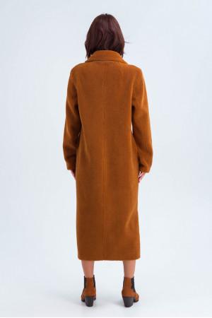 Жіноча дублянка «Румі» коричневого кольору