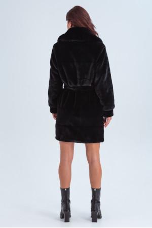 Женская шуба «Винтер» черного цвета