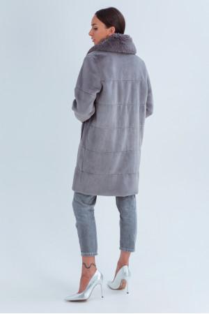 Жіноча шуба «Вінтер» темно-сірого кольору