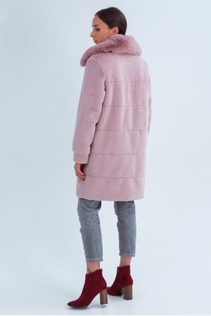 Жіноча шуба «Вінтер» рожевого кольору