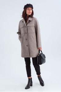 Женское пальто-рубашка «Майли» цвета капучино