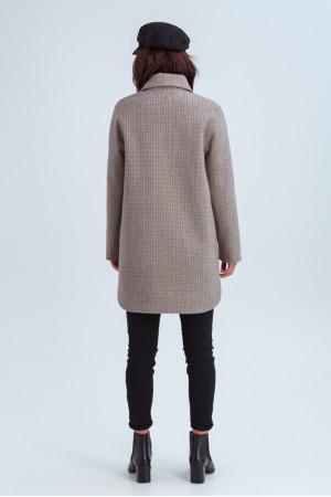 Жіноче пальто-сорочка «Майлі» кольору капучино