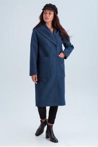 Жіноче пальто «Лаура» кольору джинс