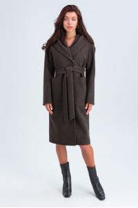 Женское пальто «Лаура» коричневого цвета