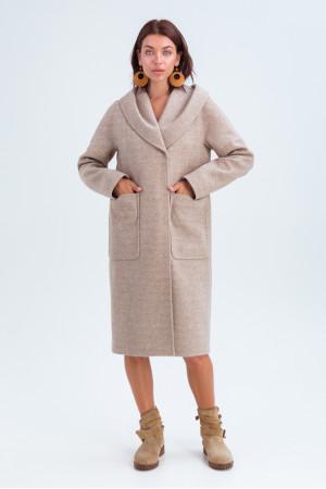 Женское пальто «Лаура» бежевого цвета