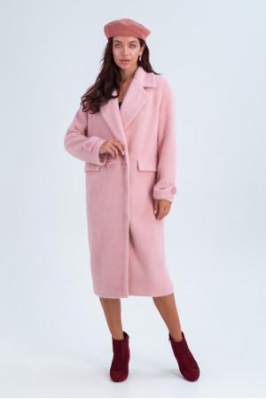 Женское пальто «Катарина» розового цвета