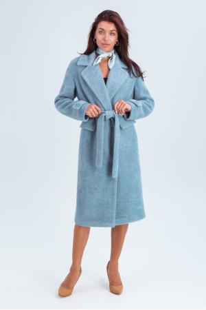 Женское пальто «Катарина» голубого цвета
