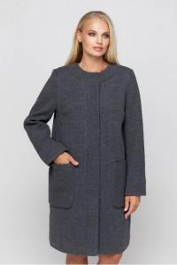 Жіноче пальто «Ліді» темно-сірого кольору
