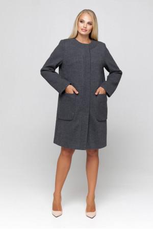 Женское пальто «Лиди» темно-серого цвета