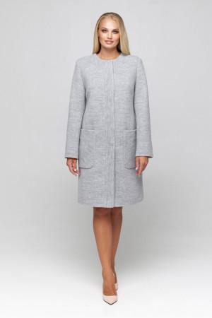 Женское пальто «Лиди» светло-серого цвета