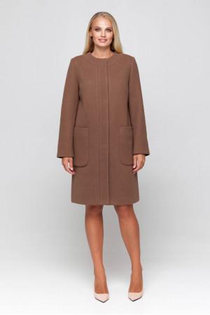 Женское пальто «Лиди» светло-коричневого цвета