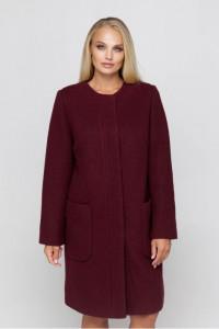Жіноче пальто «Ліді» бордового кольору