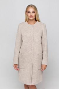 Жіноче пальто «Ліді» бежевого кольору