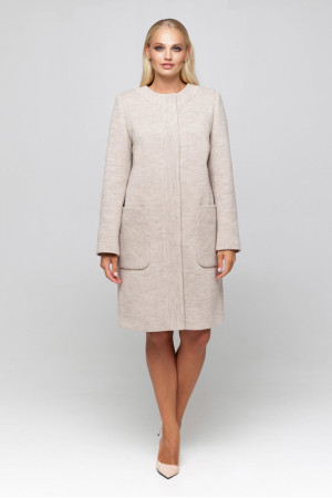Женское пальто «Лиди» бежевого цвета