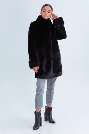 Женская шуба «Патрисия» черного цвета