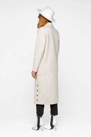 Женское пальто «Асти» бежевого цвета