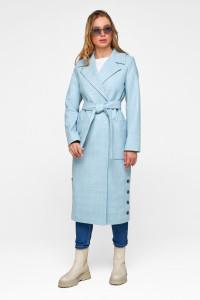 Женское пальто «Асти» голубого цвета