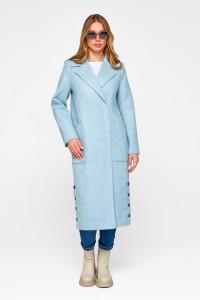 Жіноче пальто «Асті» блакитного кольору