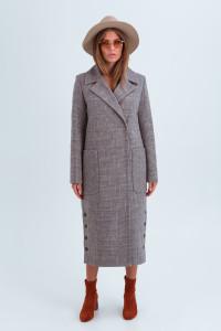Женское пальто «Асти» коричневого цвета