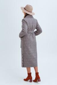 Жіноче пальто «Асті» коричневого кольору