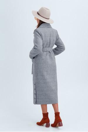 Женское пальто «Асти» серого цвета