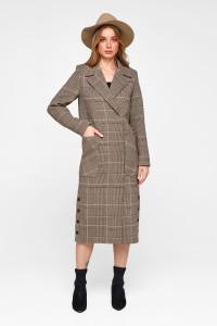 Женское пальто «Асти» цвета кофе