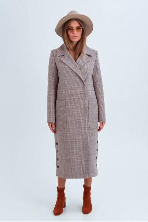 Женское пальто «Асти» цвета кэмел