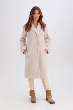Женское пальто «Френсис» белого цвета