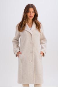 Жіноче пальто «Френсіс» білого кольору