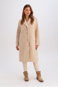 Женское пальто «Френсис» бежевого цвета
