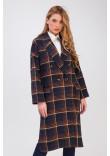 Жіноче пальто «Росаріо» темно-синього кольору