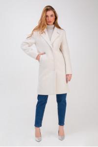 Жіноче пальто «Аманда» білого кольору