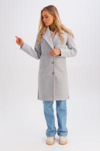 Женское пальто «Аманда» голубого цвета