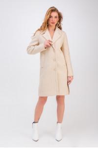 Женское пальто «Аманда» бежевого цвета