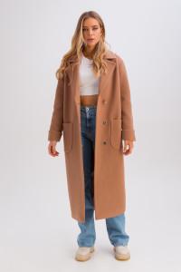Жіноче пальто «Маріз» кольору кемел