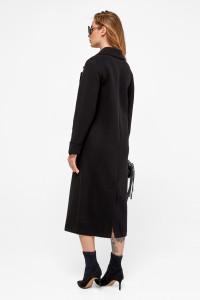 Жіноче пальто «Маріз» чорного кольору
