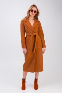 Жіноче пальто «Маріз» коньячного кольору