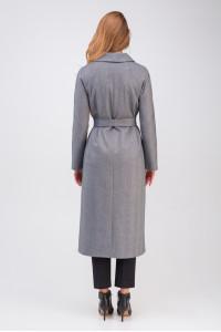 Жіноче пальто «Ілана» чорно-білого кольору
