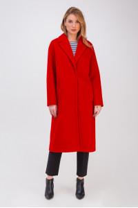 Жіноче пальто «Крус» червоного кольору