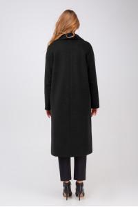 Жіноче пальто «Крус» чорного кольору