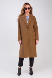 Жіноче пальто «Крус» кольору кемел