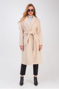 Женское пальто «Крус» бежевого цвета