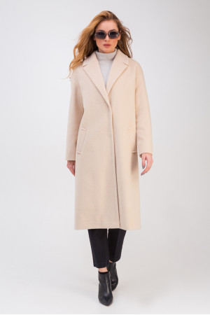 Жіноче пальто «Крус» бежевого кольору