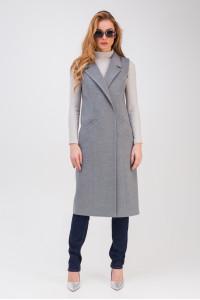 Жіночий теплий жилет «Розалі» сірого кольору