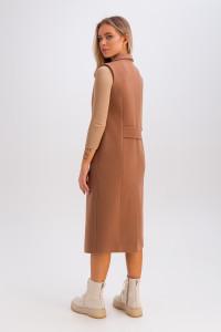 Жіночий теплий жилет «Розалі» кольору кемел