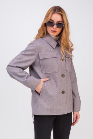 Жіноче пальто-сорочка «Алін» кольору марсала