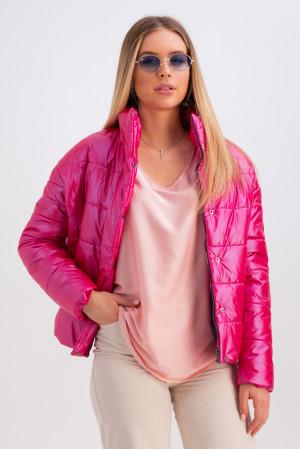 Куртка «Джасти» малинового цвета