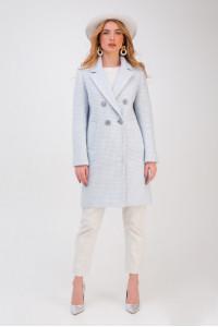 Женское пальто «Афина» голубого цвета