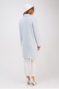 Жіноче пальто «Афіна» блакитного кольору