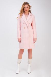 Женское пальто «Афина» розового цвета